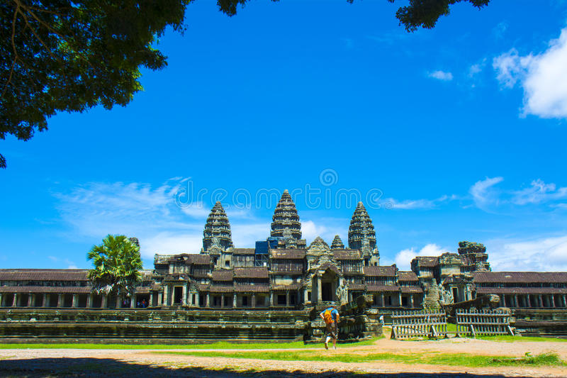 Η οπίσθια είσοδος σε Angkor Wat Καμπότζη στοκ φωτογραφίες με δικαίωμα ελεύθερης χρήσης