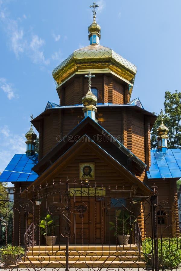 """Η Ορθόδοξη Εκκλησία προς τιμή το εικονίδιο της μητέρας του Θεού """"κοιτάζει επάνω στην ταπεινότητα """" στοκ φωτογραφία"""