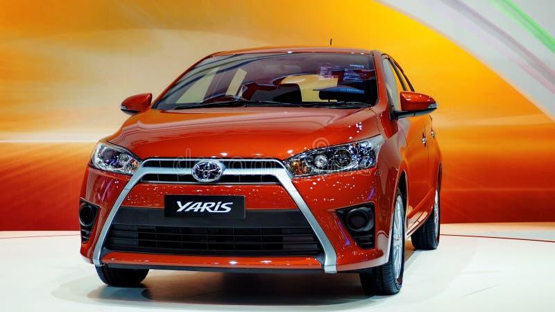 Η ολοκαίνουργια Toyota Yaris στη 30η διεθνή μηχανή EXPO 2013 στοκ εικόνα με δικαίωμα ελεύθερης χρήσης