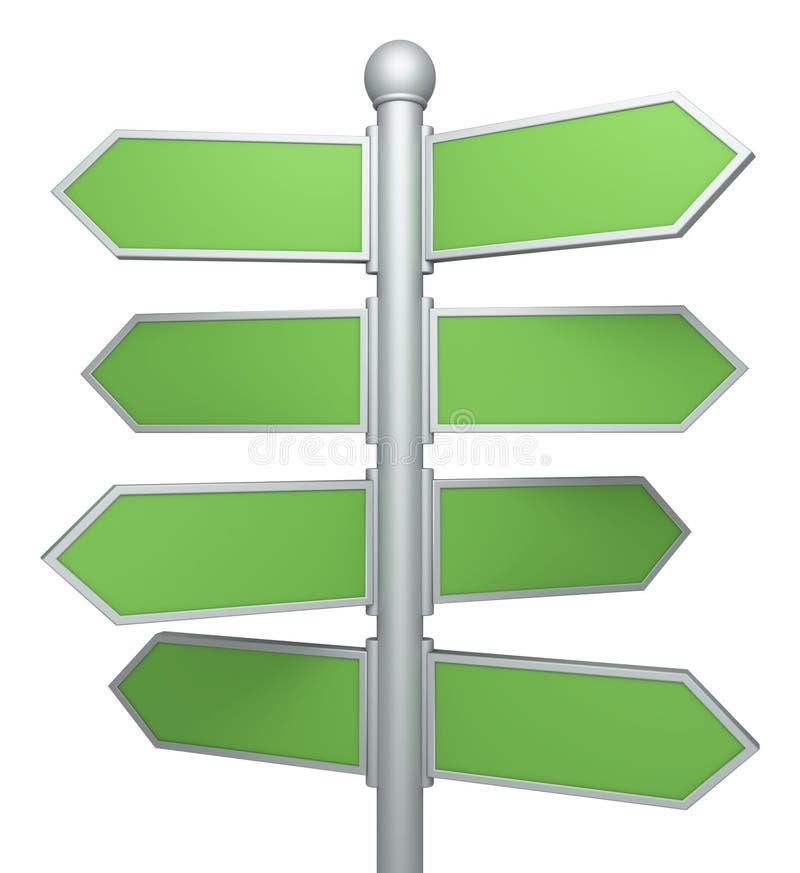 Η οδός καθοδηγεί διανυσματική απεικόνιση