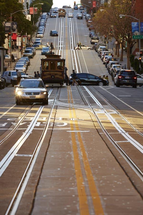Η οδός Καλιφόρνιας στην πόλη SAN Fransisco στοκ φωτογραφία με δικαίωμα ελεύθερης χρήσης