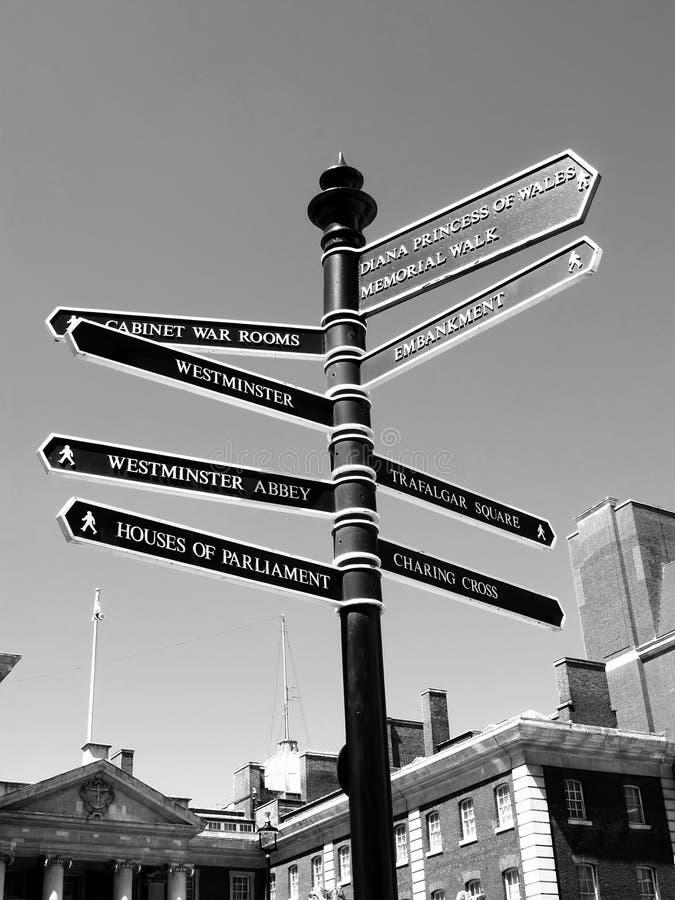 Η οδός του Λονδίνου καθοδηγεί στοκ φωτογραφίες με δικαίωμα ελεύθερης χρήσης