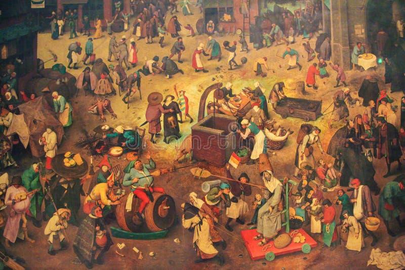 Η πάλη μεταξύ καρναβαλιού και δανεισμένος διανυσματική απεικόνιση