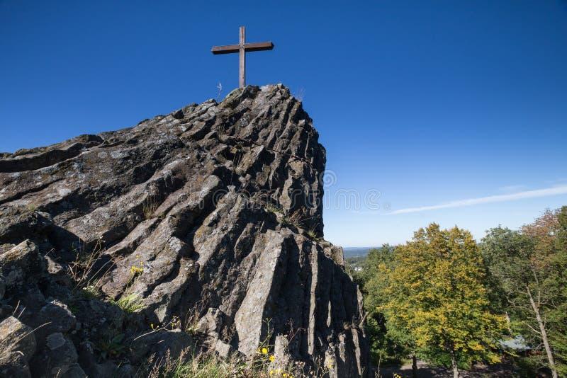 Η πέτρα Druidenstein πλησίον η Γερμανία στοκ φωτογραφίες