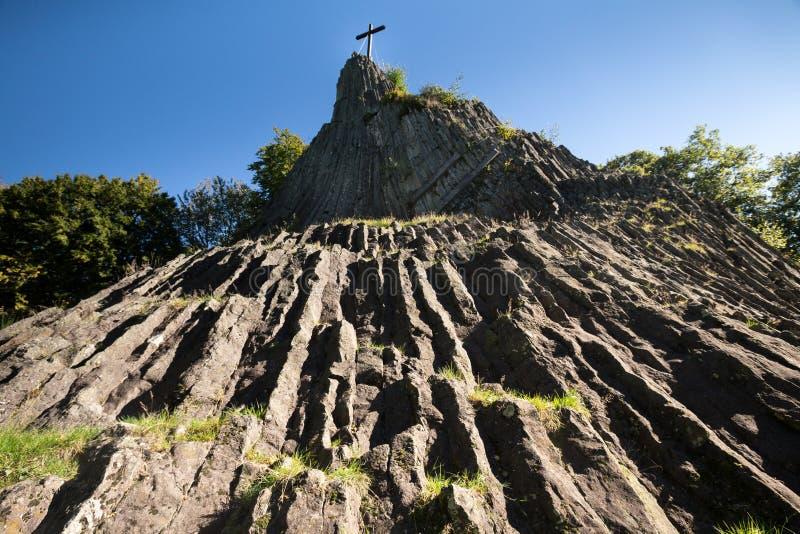 Η πέτρα Druidenstein πλησίον η Γερμανία στοκ εικόνα με δικαίωμα ελεύθερης χρήσης