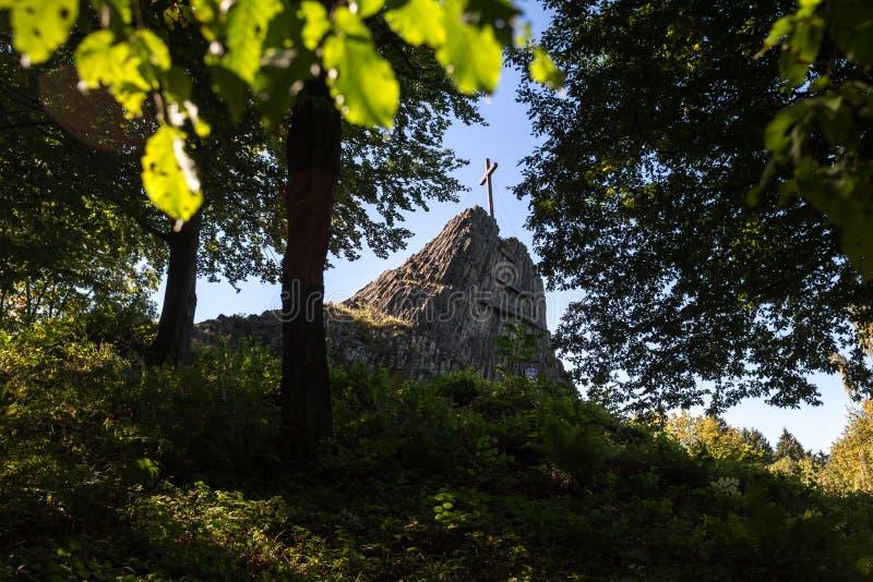 Η πέτρα Druidenstein πλησίον η Γερμανία στοκ εικόνες με δικαίωμα ελεύθερης χρήσης