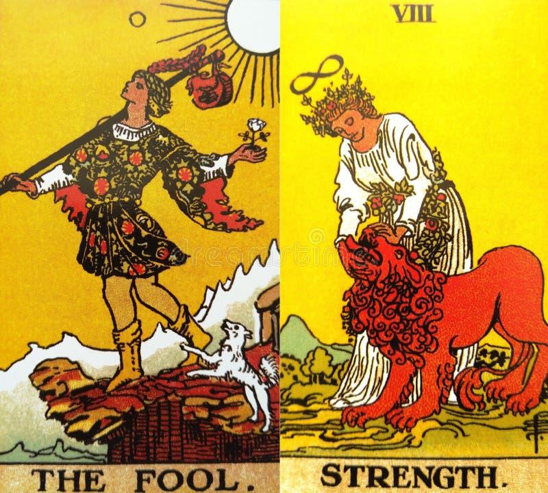 Η πίστη αναγέννησης Beginnins καρτών Tarot ανόητων στοκ φωτογραφία με δικαίωμα ελεύθερης χρήσης