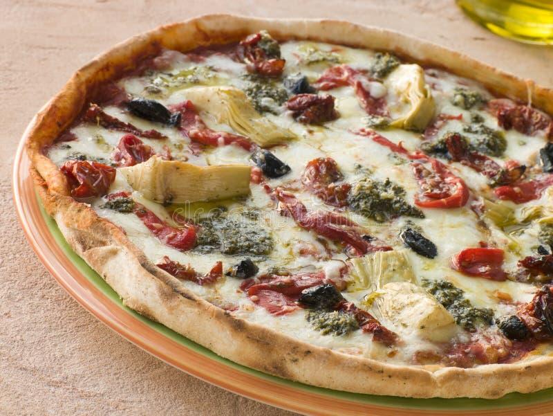 η πίτσα έψησε το λαχανικό στοκ φωτογραφίες