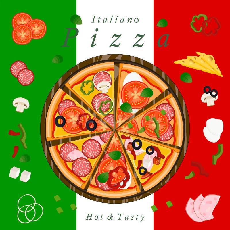 Η πίτσα διανυσματική απεικόνιση