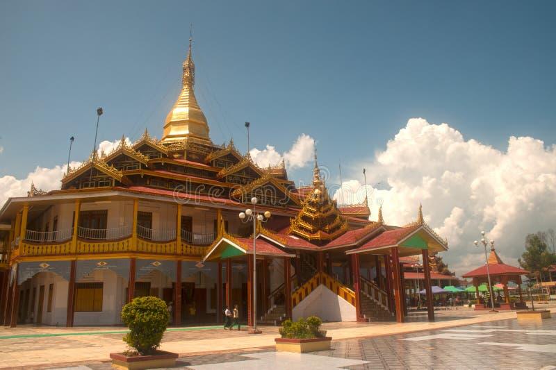 Η παγόδα του U Daw Hpaung είναι σημαντικός ναός στο Μιανμάρ στοκ εικόνα με δικαίωμα ελεύθερης χρήσης
