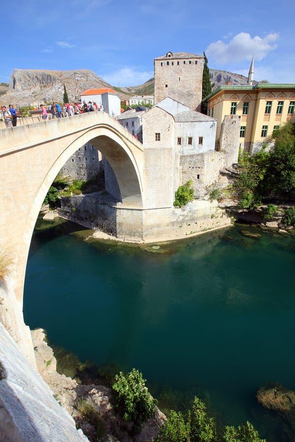 Η παλαιά γέφυρα, Μοστάρ στοκ φωτογραφία