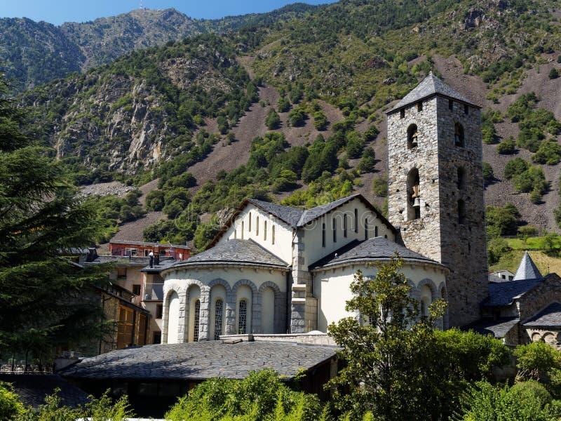 Η παλαιά εκκλησία στη Ανδόρα στοκ φωτογραφίες με δικαίωμα ελεύθερης χρήσης