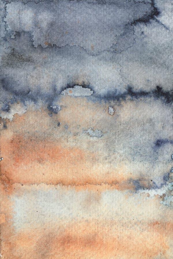 Η παλαιά καφετιά αγροτική σύσταση watercolor, η σκουριά watercolor, η φόρμα ή η βρώμικη επιφάνεια απεικόνιση αποθεμάτων
