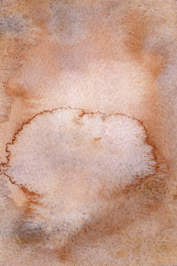 Η παλαιά καφετιά αγροτική σύσταση watercolor, η σκουριά watercolor, η φόρμα ή η βρώμικη επιφάνεια ελεύθερη απεικόνιση δικαιώματος