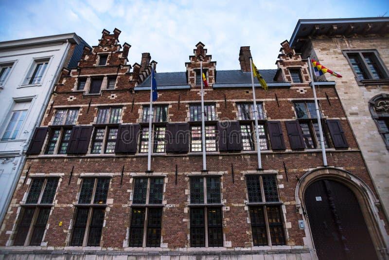 Η παλαιά πόλη το σπίτι Αμβέρσα Βέλγιο στοκ εικόνες