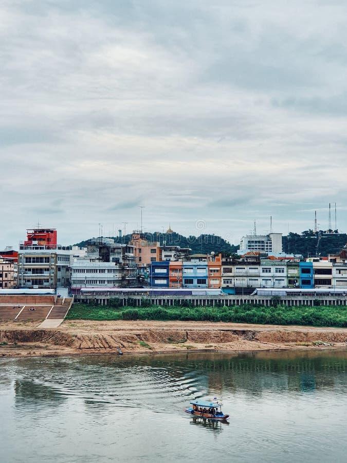 Η παλαιά πόλη Nakhonsawan, παλαιά περιοχή στο μέτωπο του ποταμού Chao Phraya, Nakhonsawan, Ταϊλάνδη στοκ εικόνες με δικαίωμα ελεύθερης χρήσης