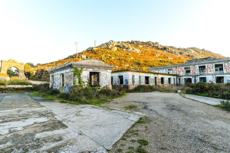 Η παλαιά στρατιωτική βάση - Baiona στοκ φωτογραφία
