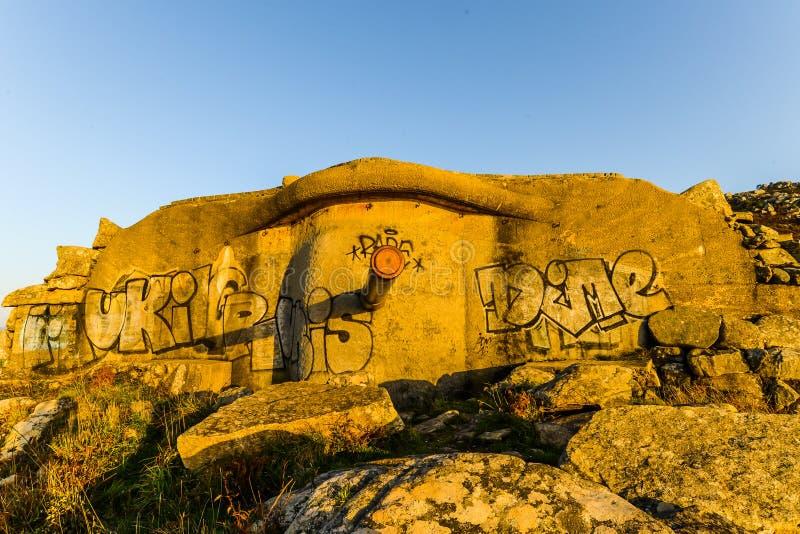 Η παλαιά στρατιωτική βάση - Baiona στοκ φωτογραφίες