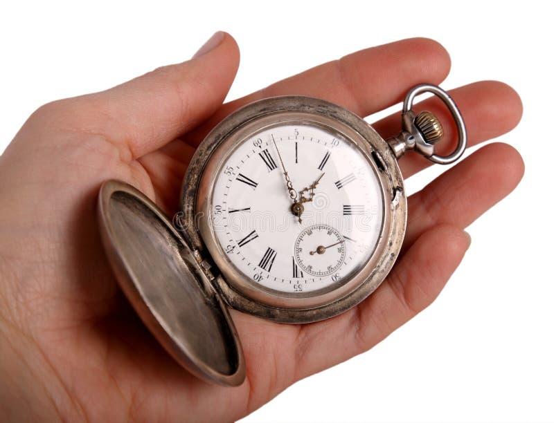 η παλαιά τσέπη χεριών εμφανίζ στοκ φωτογραφία