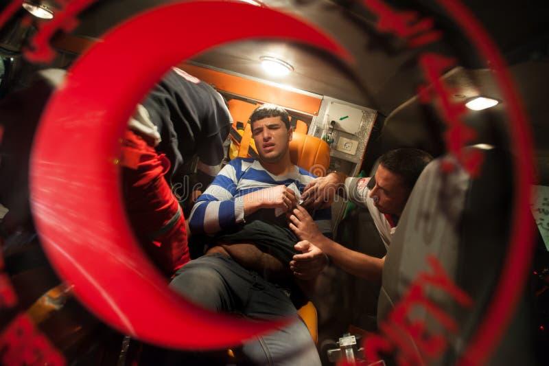 Η παλαιστινιακή Ερυθρά Ημισέληνος στοκ φωτογραφία