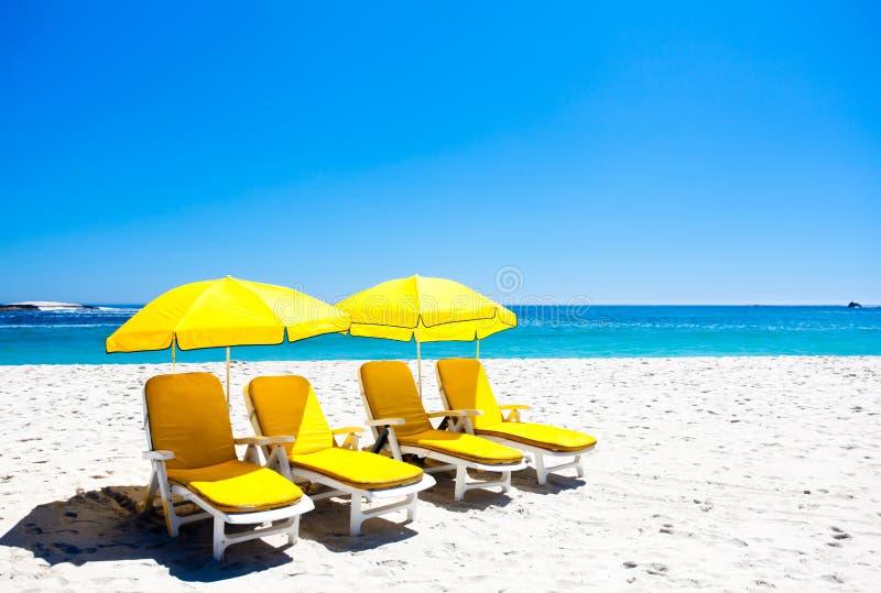 η παραλία προεδρεύει τε&sigm στοκ φωτογραφία