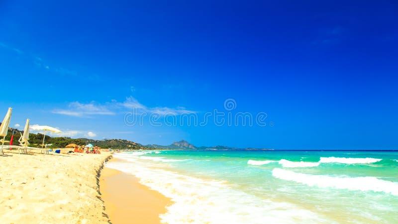 Η παραλία της πλευράς Rei, Σαρδηνία στοκ φωτογραφίες με δικαίωμα ελεύθερης χρήσης