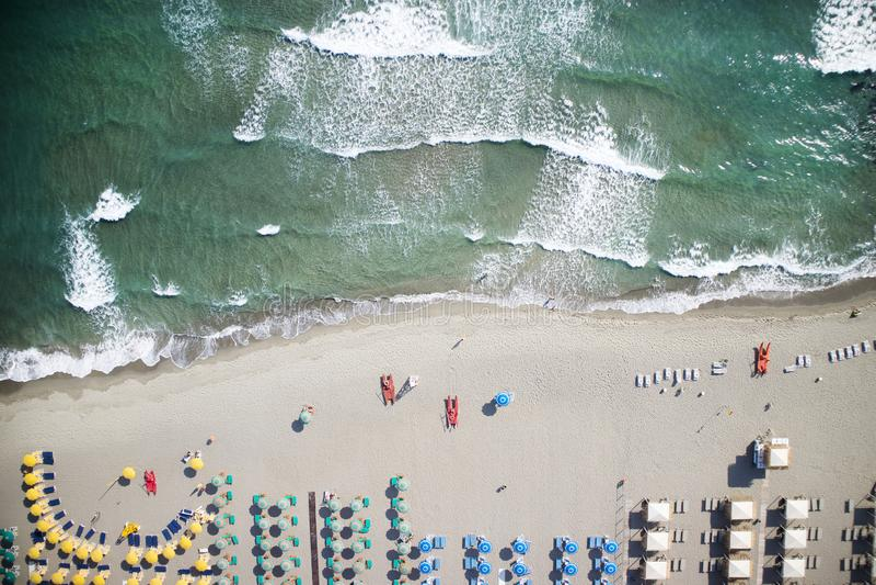 Η παραλία του dei Marmi Forte στοκ φωτογραφία με δικαίωμα ελεύθερης χρήσης