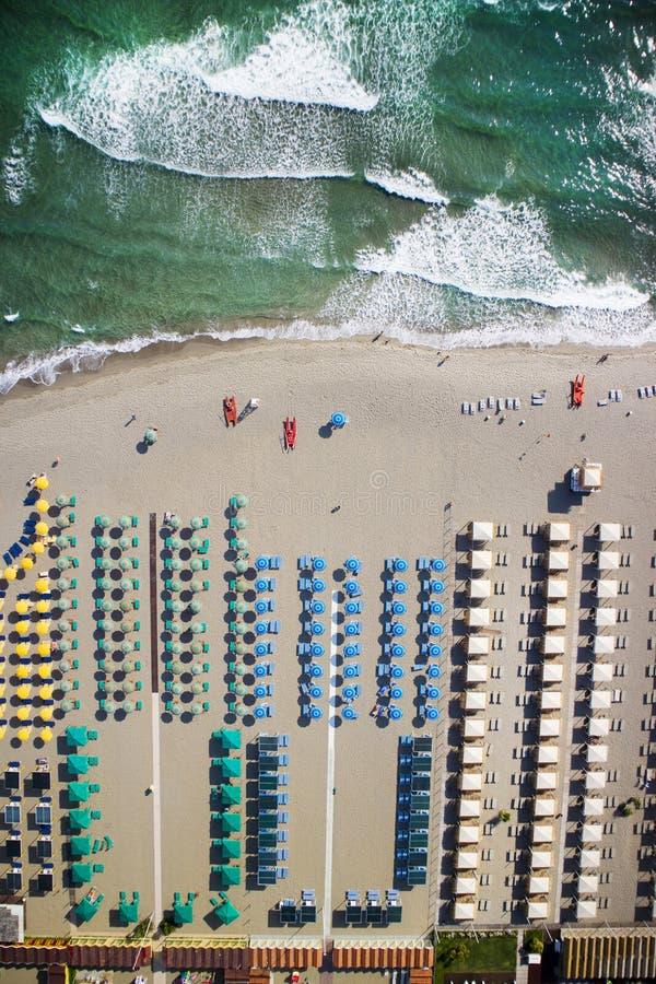 Η παραλία του dei Marmi Forte στοκ φωτογραφία