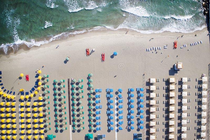 Η παραλία του dei Marmi Forte στοκ εικόνες