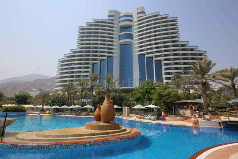 η παραλία LE Al aqah το θέρετρο στοκ φωτογραφία με δικαίωμα ελεύθερης χρήσης