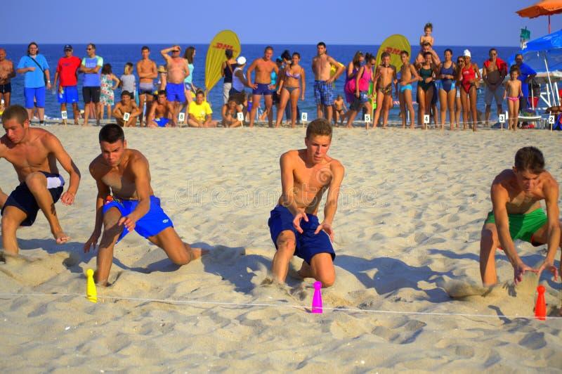 Η παραλία τρέχει τελικό στοκ φωτογραφία με δικαίωμα ελεύθερης χρήσης
