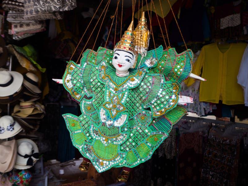 Η παραδοσιακή καμποτζιανή μαριονέτα, Siem συγκεντρώνει, Καμπότζη στοκ εικόνα