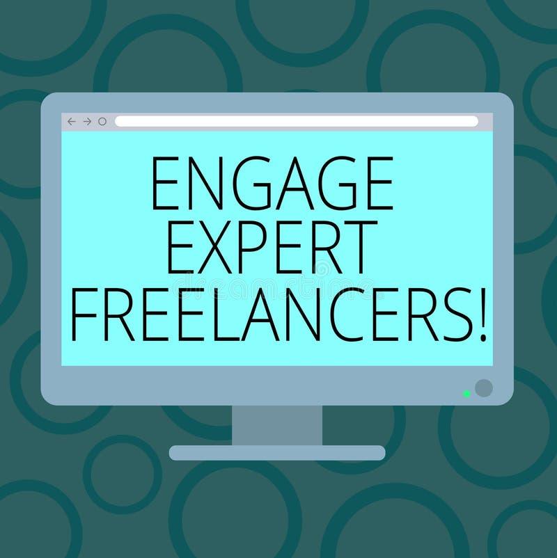 Η παρουσίαση σημειώσεων γραψίματος δεσμεύει ειδικό Freelancers Οι επιδεικνύοντας μισθώνοντας ειδικευμένοι ανάδοχοι επιχειρησιακών ελεύθερη απεικόνιση δικαιώματος