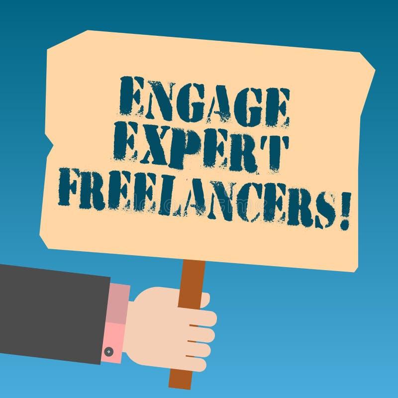 Η παρουσίαση σημειώσεων γραψίματος δεσμεύει ειδικό Freelancers Επιδεικνύοντας μισθώνοντας ειδικευμένοι ανάδοχοι επιχειρησιακών φω διανυσματική απεικόνιση