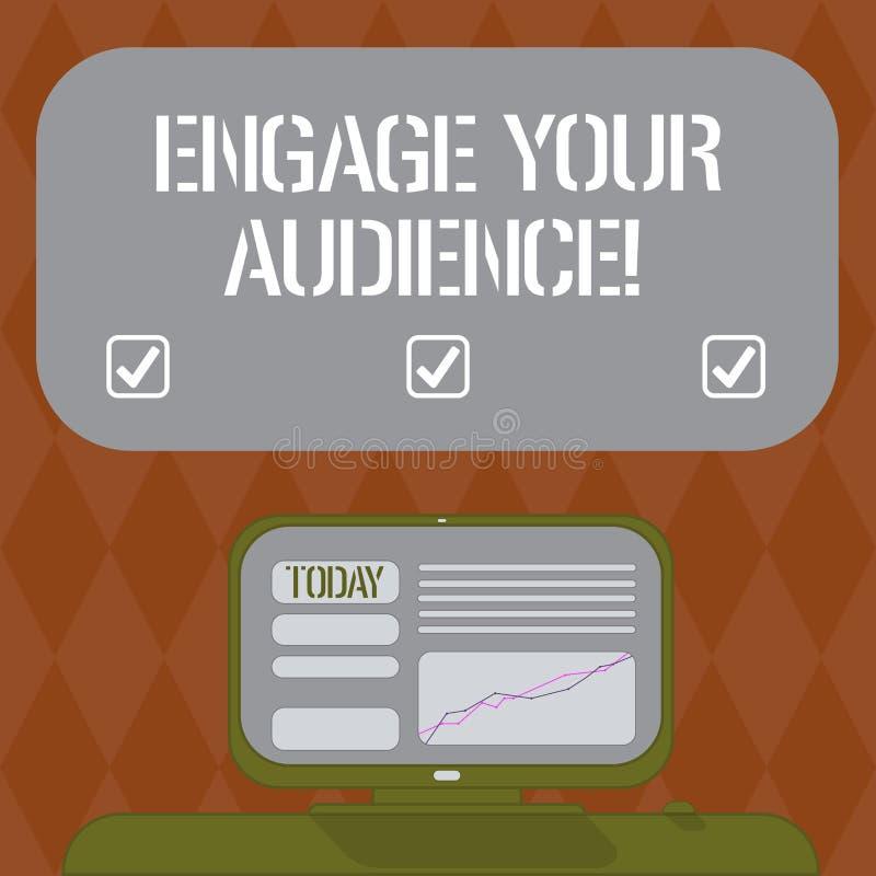 Η παρουσίαση σημειώσεων γραψίματος δεσμεύει το ακροατήριό σας Η επίδειξη επιχειρησιακών φωτογραφιών τους παίρνει ενδιέφερε, τους  απεικόνιση αποθεμάτων