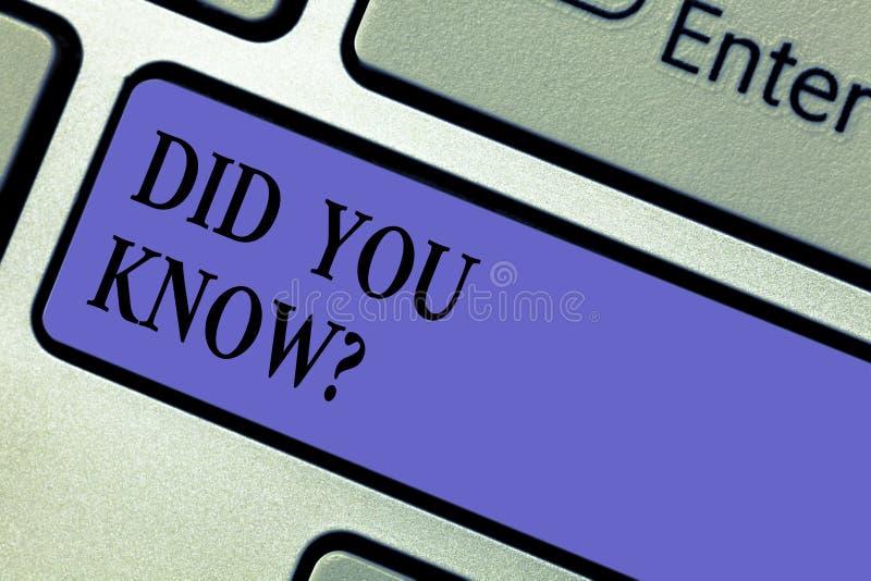 Η παρουσίαση σημειώσεων γραψίματος σας έκανε Knowquestion Επιχειρησιακή φωτογραφία που επιδεικνύει ρωτώντας εάν ξέρετε προηγουμέν στοκ εικόνες με δικαίωμα ελεύθερης χρήσης