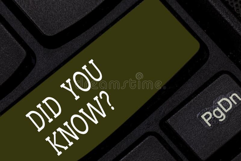 Η παρουσίαση σημειώσεων γραψίματος σας έκανε Knowquestion Επιχειρησιακή φωτογραφία που επιδεικνύει ρωτώντας εάν ξέρετε προηγουμέν στοκ φωτογραφία