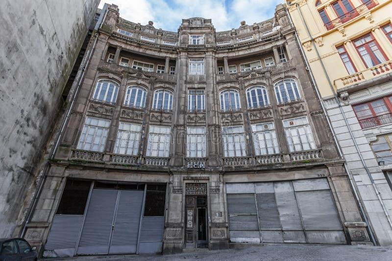 Η παλαιά έδρα της παγκοσμίως διάσημης ομάδας ποδοσφαίρου Futebol Clube κάνει το Πόρτο στοκ εικόνες