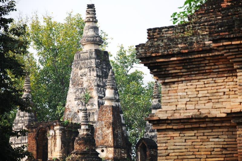 Η παλαιά παγόδα στο chiangmai, Ταϊλάνδη στοκ εικόνα