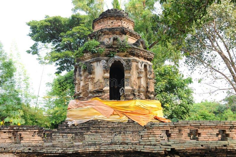 Η παλαιά παγόδα στο chiangmai, Ταϊλάνδη στοκ εικόνες