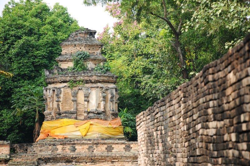 Η παλαιά παγόδα στο chiangmai, Ταϊλάνδη στοκ φωτογραφία
