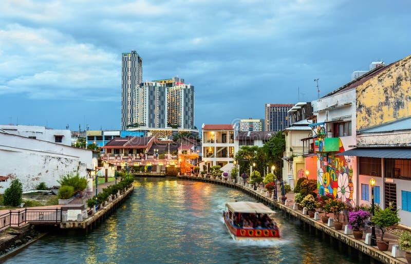 Η παλαιά πόλη Malacca, μια περιοχή παγκόσμιων κληρονομιών της ΟΥΝΕΣΚΟ στη Μαλαισία στοκ εικόνα με δικαίωμα ελεύθερης χρήσης