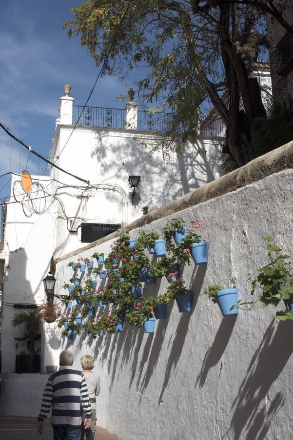 Η παλαιά πόλη Marbella στο Κόστα ντελ Σολ Ανδαλουσία, Ισπανία στοκ φωτογραφία με δικαίωμα ελεύθερης χρήσης