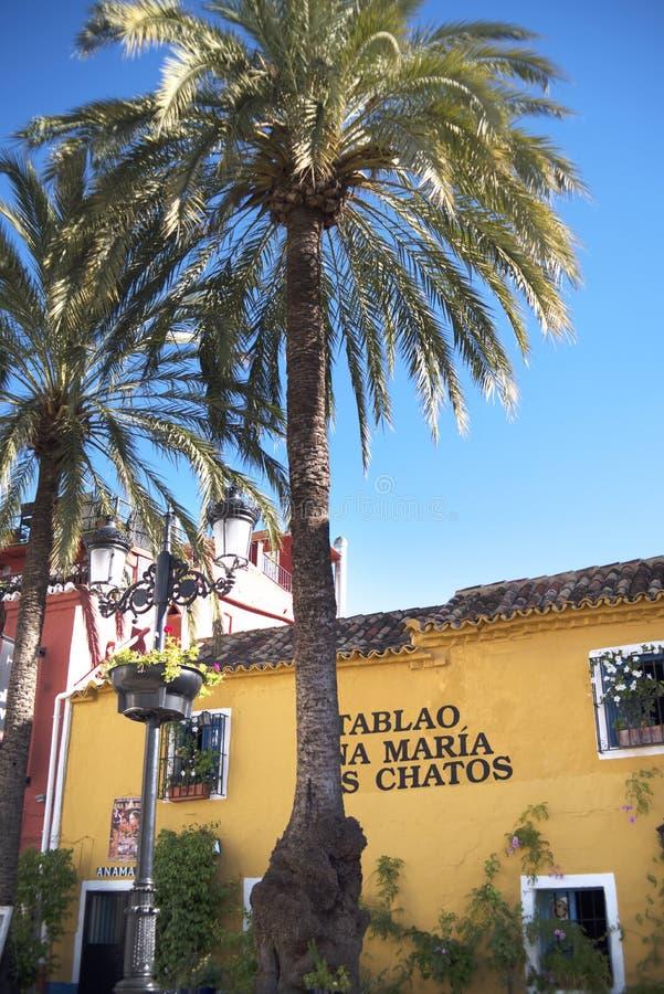 Η παλαιά πόλη Marbella στο Κόστα ντελ Σολ Ανδαλουσία, Ισπανία στοκ εικόνες