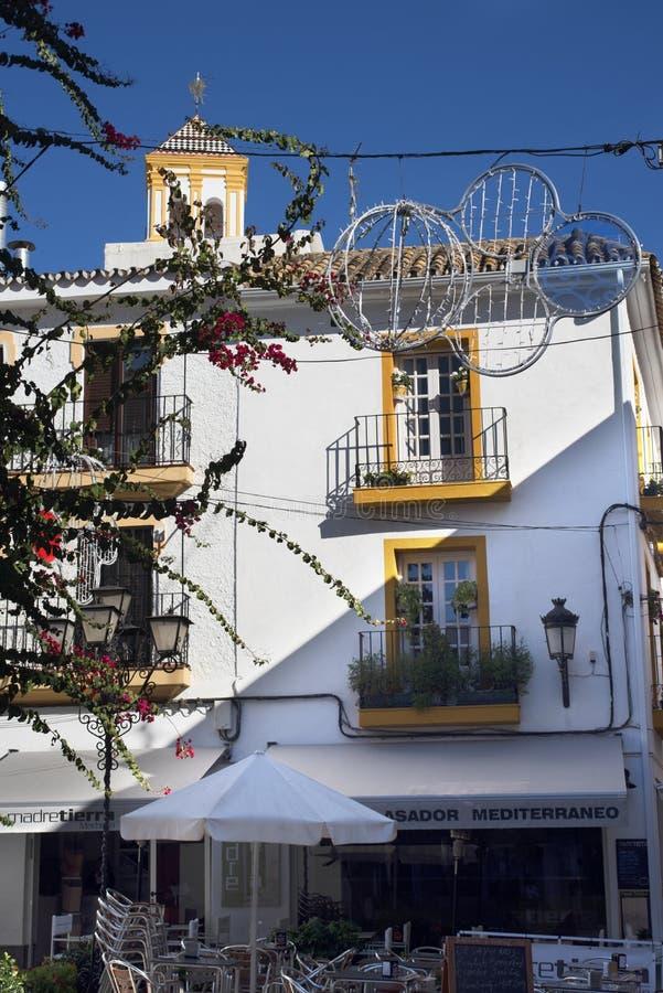 Η παλαιά πόλη Marbella στο Κόστα ντελ Σολ Ανδαλουσία, Ισπανία στοκ εικόνες με δικαίωμα ελεύθερης χρήσης