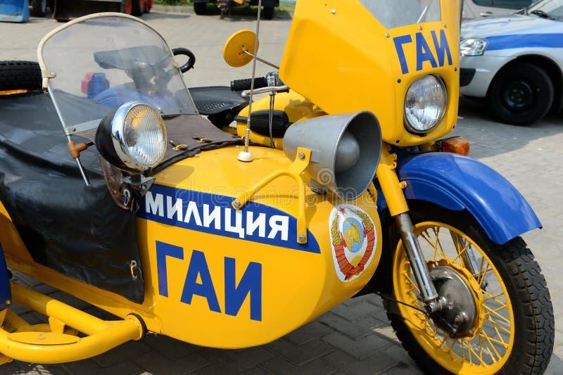 Η παλαιά σοβιετική μοτοσικλέτα αστυνομίας στοκ φωτογραφία με δικαίωμα ελεύθερης χρήσης