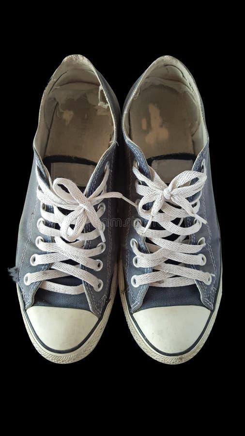 Η παλαιά τοπ άποψη παπουτσιών απομονώνει στοκ φωτογραφίες