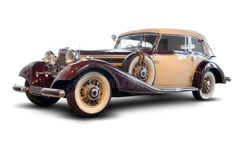 Η παλαιά Mercedes στοκ εικόνες με δικαίωμα ελεύθερης χρήσης