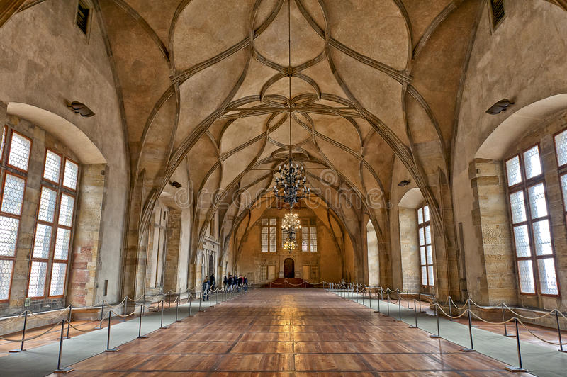 Η παλαιά Royal Palace, Πράγα, Δημοκρατία της Τσεχίας στοκ εικόνα