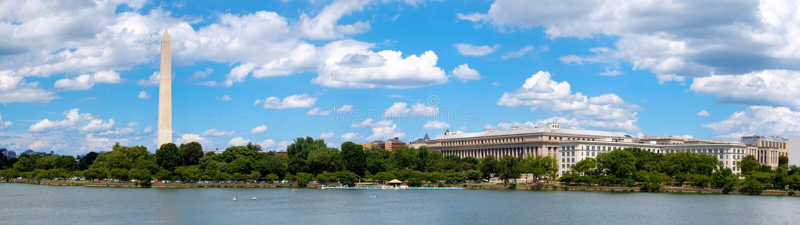 Η παλιρροιακή λεκάνη και το μνημείο της Ουάσιγκτον στην Ουάσιγκτον Δ Γ στοκ εικόνα